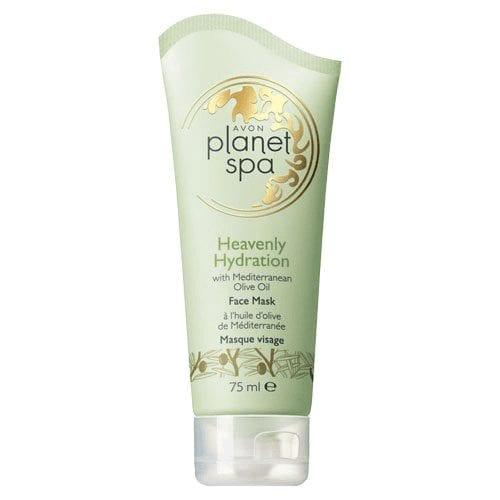"""Het Planet Spa Olijfolie Gezichtsmasker, ook wel """"Heavenly Hydration"""" genoemd, hydrateert en beschermt de droge en gevoelige huid."""