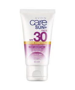 AVON Care Sun + Sunscreen voor het gezicht met matterend effect SPF 30