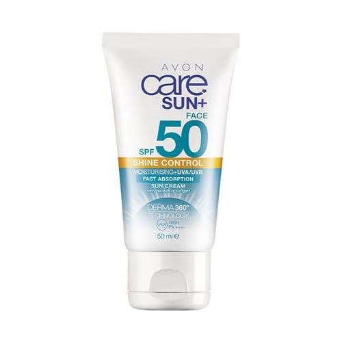 AVON Care Sun + Sunscreen voor het gezicht met matterend effect SPF 50